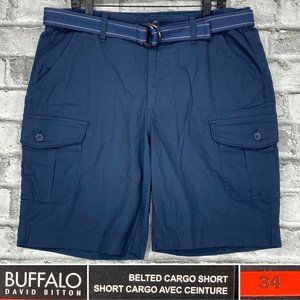 NEW Buffalo Size 34 Belted Rip Stop Cargo Shorts